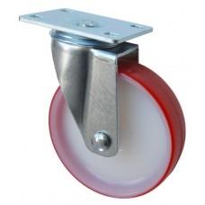 Колесо F 100 (201-027-100) с кронштейном поворотным полиамид/полиуретан с роликовым подшипником
