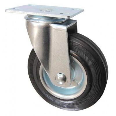 Колесо F 80 (201-010-080) с кронштейном поворотным металл/резина