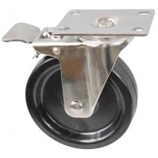 Колесо FI 125 (212-049-125) с кронштейном поворотным бакелит с тормозом