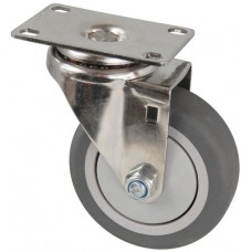 Колесо FI 125 (211-063-125) с кронштейном поворотным пластик/TPR
