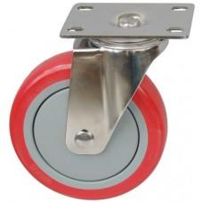 Колесо FI 125 (211-061-125) с кронштейном поворотным пластик/полиуретан