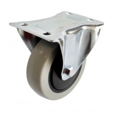 Колесо AB 100 (023-063-100) с кронштейном пластик/TPR серая