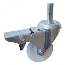 Колесо G 50 (261-020-050) с кронштейном поворотным полиамид с втулкой с осью fi.10 с тормозом