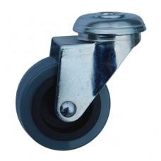 Колесо G 50 (256-101-050) с кронштейном поворотным пластик/полиуретан с отверстием Ф10,5