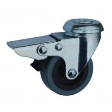 Колесо G 50 (257-101-050) с кронштейном поворотным пластик/полиуретан с отверстием Ф10,5 с тормозом