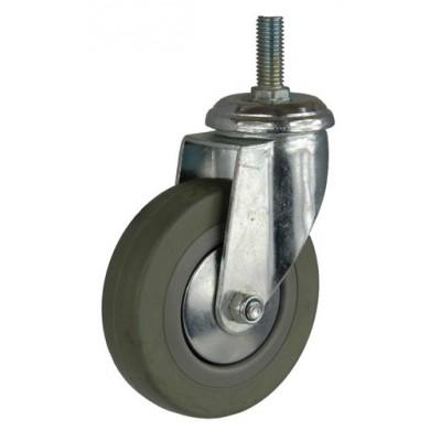 Колесо G 100 (264-100-100) с кронштейном поворотным пластик/резина болт М12