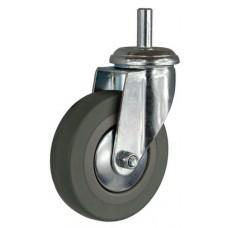 Колесо G 75 (260-100-075) с кронштейном поворотным пластик/резина с осью fi.10