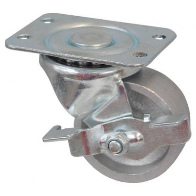 Колесо K 50 (292-095-050) с кронштейном поворотным чугун с тормозом
