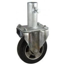 Колесо RA 160 (003-250-160R1) с кронштейном алюминий/резина с креплением под круглый профиль с фиксирующими болтами