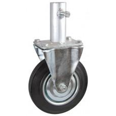 Колесо RA 200 (003-001-200R2) с кронштейном металл/резина с креплением под круглый профиль с фиксирующими болтами