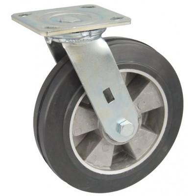 Колесо SA 125 (301-250-125) с кронштейном поворотным алюминий/резина