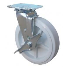Колесо SA 200 (302-040-200) с кронштейном поворотным полипропилен с тормозом