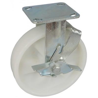 Колесо SA 150 (304-030-150) с кронштейном полиамид с шариковым подшипником с тормозом