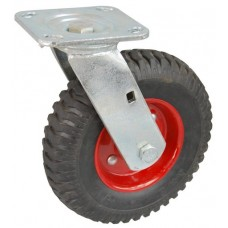Колесо SA 200 (301-200-200) с кронштейном поворотным металл/резина с шариковым подшипником