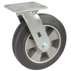 Колесо SA 160 (301-250-160) с кронштейном поворотным алюминий/резина