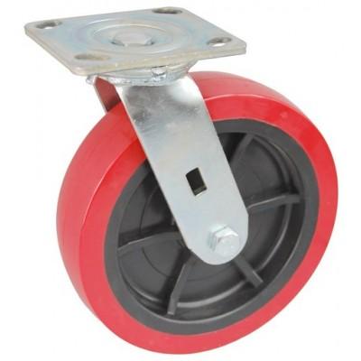 Колесо SA 125 (301-210-125) с кронштейном поворотным пластик/полиуретан