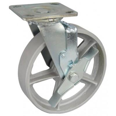 Колесо SA 150 (302-230-150) с кронштейном поворотным чугун с тормозом