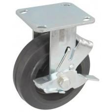 Колесо SA 150 (304-240-150) с кронштейном чугун/резина с тормозом