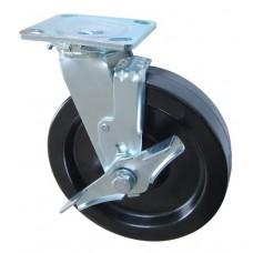 Колесо SA 100 (302-046-100) с кронштейном поворотным фенол с тормозом