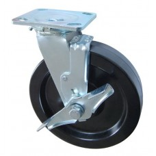 Колесо SA 125 (302-046-125) с кронштейном поворотным фенол с тормозом