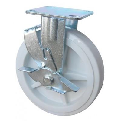 Колесо SA 150 (304-040-150) с кронштейном полипропилен с тормозом