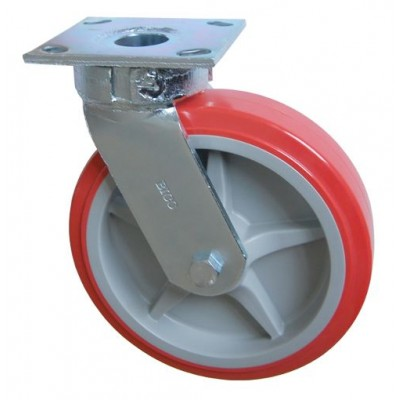 Колесо SC 125 (305-210-125) с кронштейном поворотным пластик/полиуретан