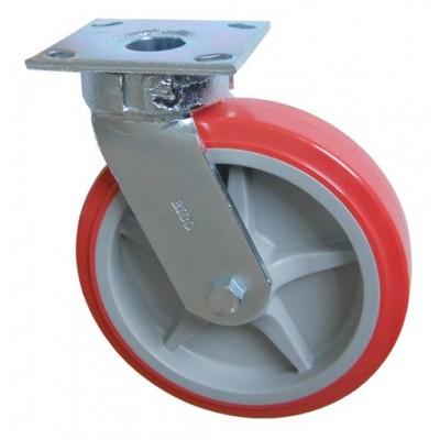 Колесо SC 200 (305-210-200) с кронштейном поворотным пластик/полиуретан