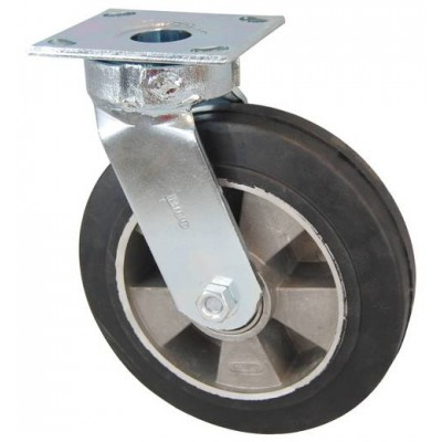 Колесо SC 125 (305-250-125) с кронштейном поворотным алюминий/резина