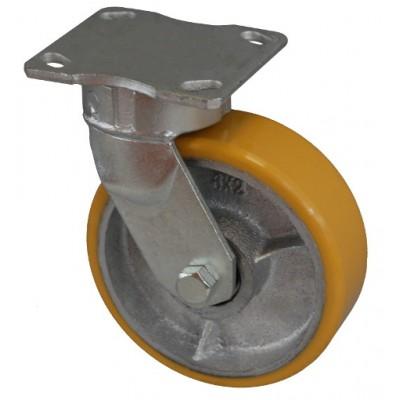 Колесо SD 125 (321-225-125) с кронштейном поворотным чугун/полиуретан
