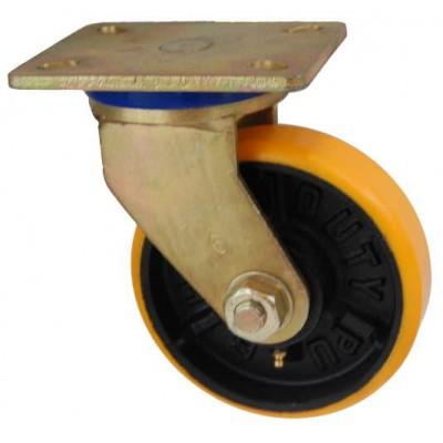 Колесо SG 150 (331-223-150) с кронштейном поворотным чугун/полиуретан