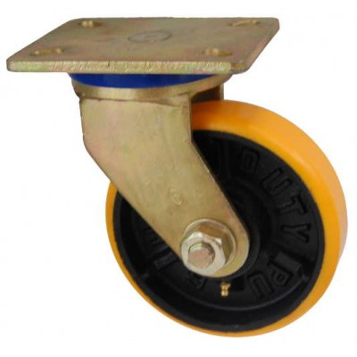 Колесо SG 200 (331-223-200) с кронштейном поворотным чугун/полиуретан