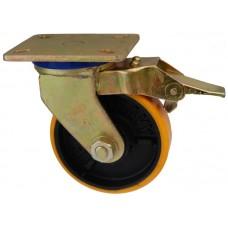 Колесо SG 75 (332-223-075) с кронштейном поворотным чугун/полиуретан с тормозом