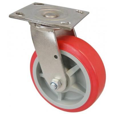 Колесо SI 200 (311-210-200) с кронштейном поворотным пластик/полиуретан