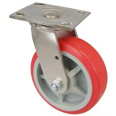 Колесо SI 100 (311-210-100) с кронштейном поворотным пластик/полиуретан