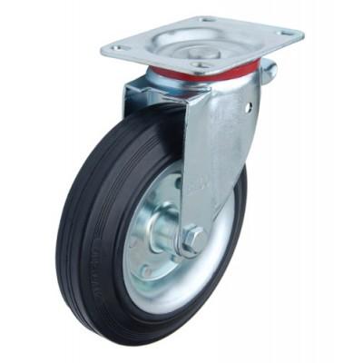 Колесо Y 200 (181-001-200) с кронштейном поворотным металл/резина