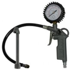 Пистолет N-01-081 для подкачки шин с манометром с длинным наконечником